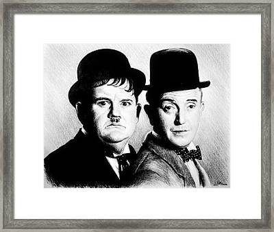 Laurel And Hardy Another Fine Mess Framed Print by Andrew Read