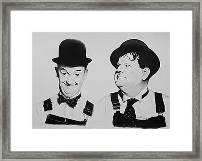 Laurel And Hardy Framed Print by Robert Bateman