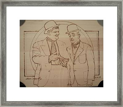 Laurel And Hardy - Thicker Than Water Framed Print by Sean Connolly