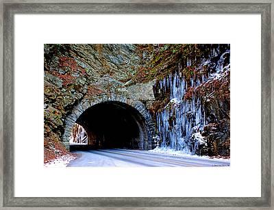 Laurel Creek Road Tunnel Framed Print by Paul Mashburn