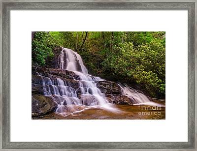 Laurel Falls Framed Print by Anthony Heflin