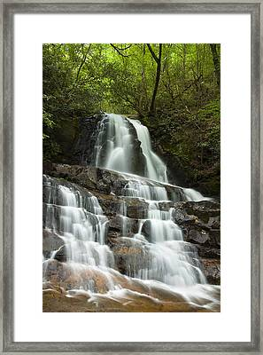 Laurel Falls Cascades Framed Print by Andrew Soundarajan