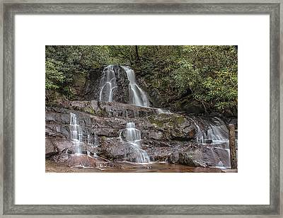 Laurel Falls - Great Smoky Mountains National Park Framed Print by Peter Ciro