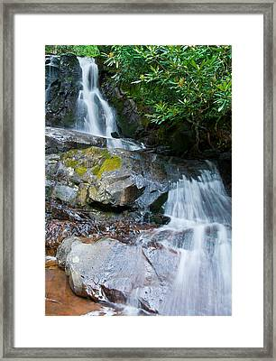 Laurel Falls Framed Print by Melinda Fawver