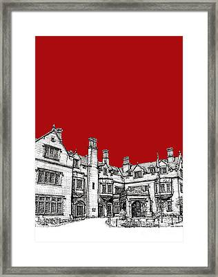 Laurel Hall In Red -portrait- Framed Print by Adendorff Design