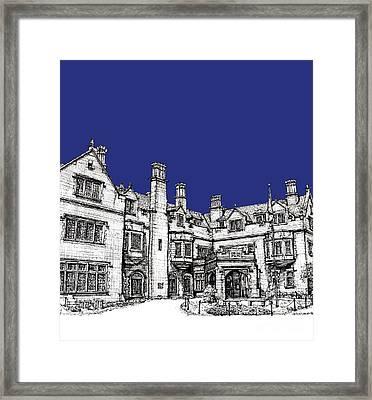 Laurel Hall In Royal Blue Framed Print