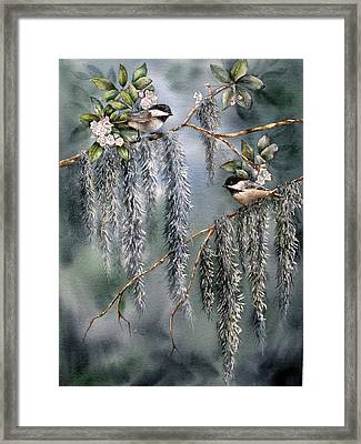 Framed Print featuring the painting Laurel Meets Moss by Mary McCullah