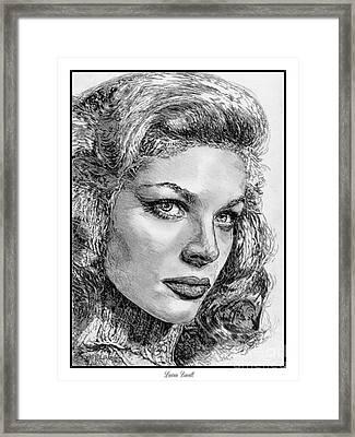 Lauren Bacall Framed Print by J McCombie