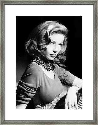 Lauren Bacall Framed Print