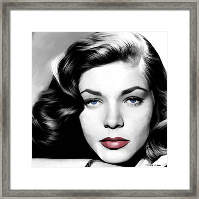 Lauren Bacall Large Size Portrait Framed Print