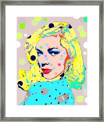 Lauren Bacall Framed Print by Ricky Sencion