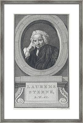 Laurence Sterne Framed Print by British Library