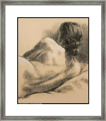 Lauren's Back Muscles Framed Print by Diana Moses Botkin