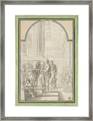 Laurent De La Hyre, The Presentation In The Temple Framed Print by Quint Lox