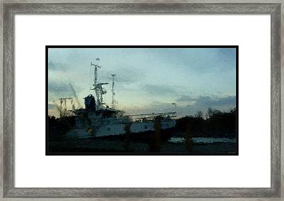 Laurent Great Lakes Research Vessel Framed Print by Rosemarie E Seppala