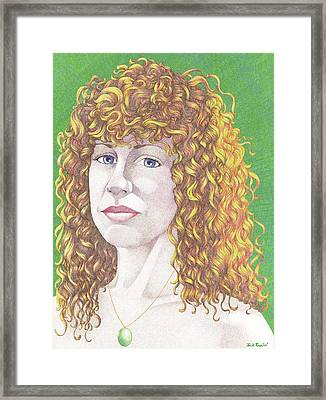 Laurie's Hair Framed Print by Jack Puglisi