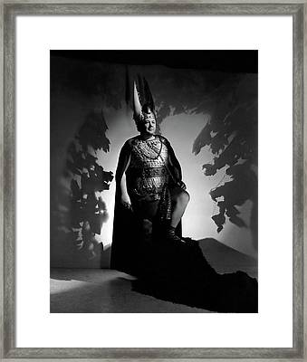 Lauritz Melchior In Costume Framed Print