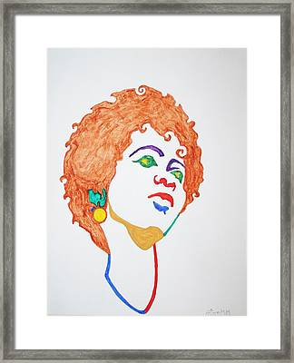 Lauryn Hill  Framed Print by Stormm Bradshaw