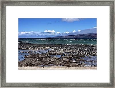 Lava Beach Framed Print by Karl Voss