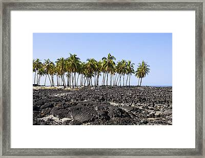 Lava Beach Framed Print by Kelley King