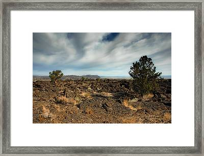 Lava Beds National Monument Framed Print by Donna Blackhall