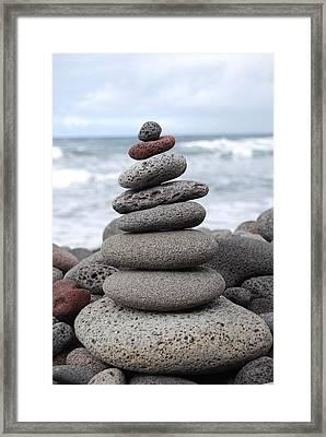 Lava Cairn Framed Print