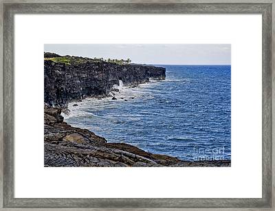 Framed Print featuring the photograph Lava Cliffs by Gina Savage