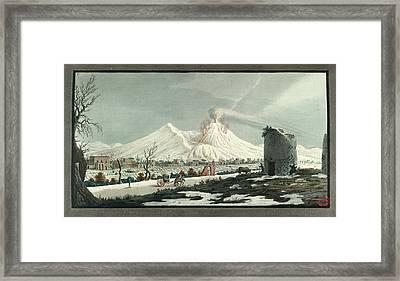 Lava Erupting From Mt. Vesuvius Framed Print