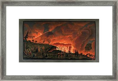 Lava Flow On Mt. Vesuvius Framed Print by British Library