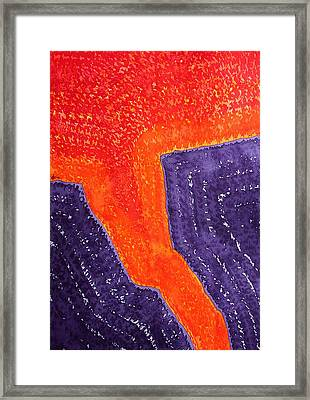 Lava Flow Original Painting Framed Print