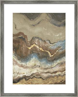 Lava Flow Panel II Framed Print by Patricia Pinto