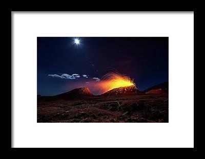 Magma Framed Prints
