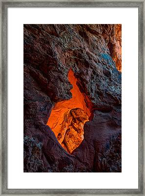 Lava Glow Framed Print by Chad Dutson