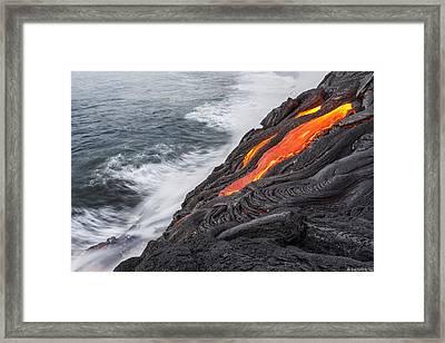 Lava Framed Print by Henryk Welle