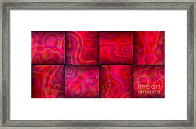 Lava Lamp Abstract 1  By Saribelle Rodriguez Framed Print by Saribelle Rodriguez