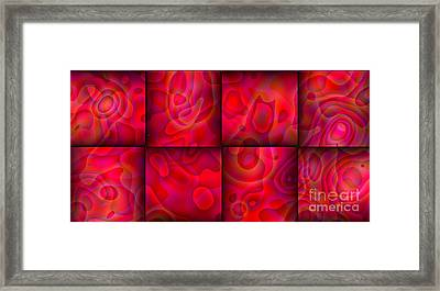 Lava Lamp Abstract 2  By Saribelle Rodriguez Framed Print by Saribelle Rodriguez