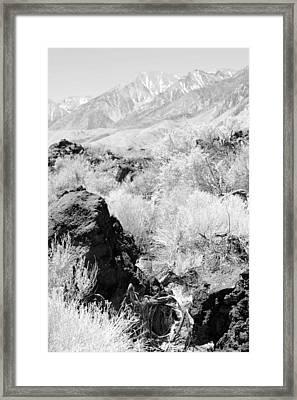 Lava Outcrop-white Mountains Framed Print