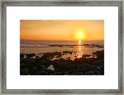 Lava Rock Beach Framed Print