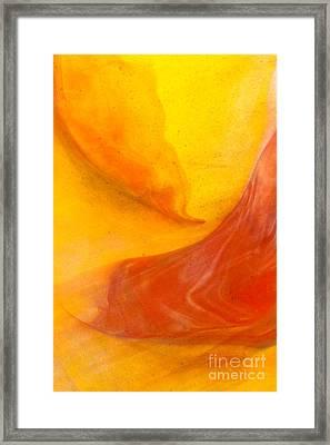 Lava Swirl Glass Abstact Framed Print