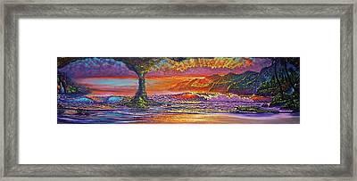 Lava Tube Fantasy Framed Print