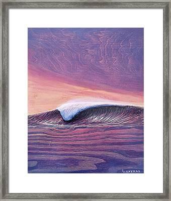 Lava Tube Framed Print by Nathan Ledyard