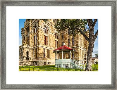 Lavaca County Courthouse II - Hallettsville Texas Framed Print by Silvio Ligutti