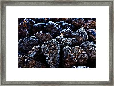 Lavafrost Framed Print by Benjamin Yeager