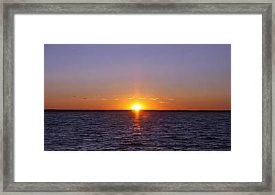 Lavallette Sunset I Framed Print by Dave Dos Santos