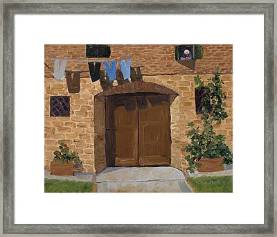 Lavanderia Framed Print by Mary Giacomini