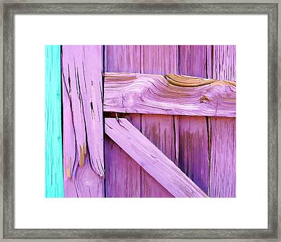 Lavender Abstract Painting II Framed Print by Jon William Lopez