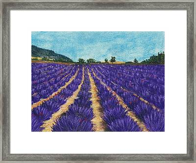 Lavender Afternoon Framed Print by Anastasiya Malakhova