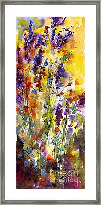 Lavender And Bees Framed Print