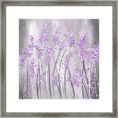 Lavender Art Framed Print by Lourry Legarde