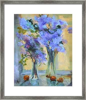 Lavender Bliss Framed Print by Kathleen Farmer